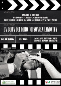 "[:es]Presentación cortometraje ""La boda del Lobo""[:eu]Film laburraren aurkezpena: ""Otsoaren ezkontza""[:] @ l Centro Cívico Bidarte de Deusto | Bilbo | Euskadi | España"
